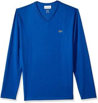 Lacoste Men's Long Sleeve V Neck Shirt T-Shirt, Th611