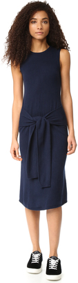 Autumn Cashmere Sleeveless Tie Front Dress $368 thestylecure.com