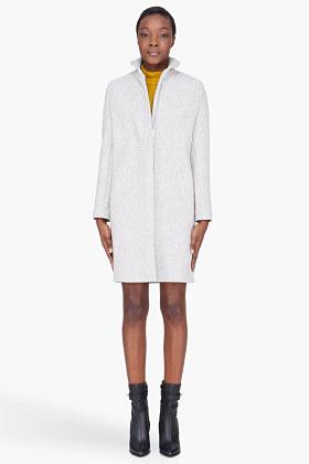 Vanessa Bruno heather grey wool Perrine coat