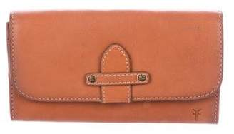 Frye Leather Fold-Over Wallet