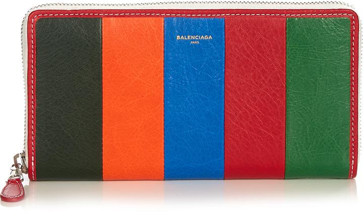 Balenciaga BALENCIAGA Bazar zip-around leather continental wallet