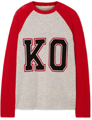 Michael Kors Intarsia Cashmere Sweater - Stone
