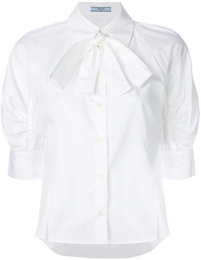Prada pussy bow shirt