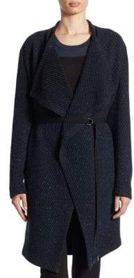 Akris Belted Wool Panel Coat