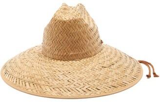 Gucci Wide Brimmed Straw Hat - Womens - Beige
