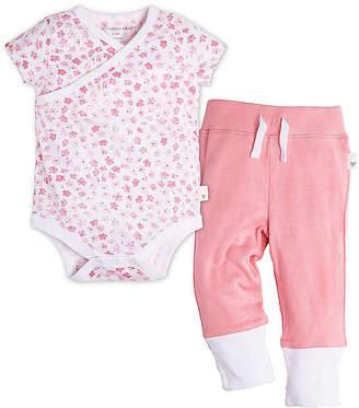 Burt's Bees Baby Mini Flower Wrap Front Organic Cotton Bodysuit and Pant Set