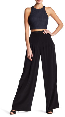 Elizabeth and James Zoe High-Waisted Flare Leg Silk Pant $445 thestylecure.com