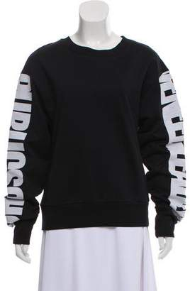 Public School Long Sleeve Crew Neck Sweater