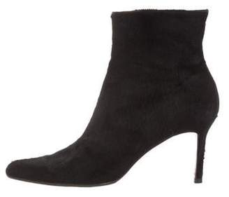 Christian Dior Ponyhair Pointed-Toe Ankle Boots