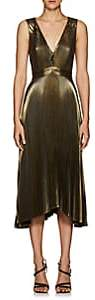 A.L.C. Women's Marisol Pleated Lamé Dress - Gold
