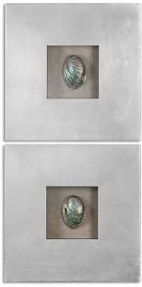 Uttermost Abalone Shells Silver Wall Art