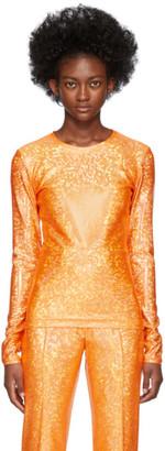Saks Potts Orange Shimmer Saya Top