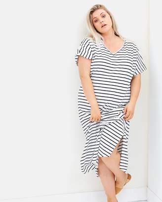 Striped Maxi Tee Dress