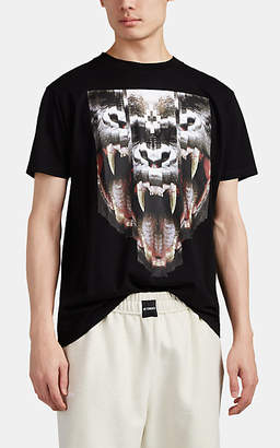 Marcelo Burlon County of Milan MEN'S ABSTRACT-GORILLA COTTON T-SHIRT - BLACK SIZE XL
