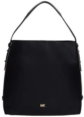 Michael Kors Black Grained Leather Hobo Bag