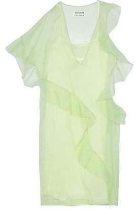 Maison Margiela Ruffled Silk-Organza Dress
