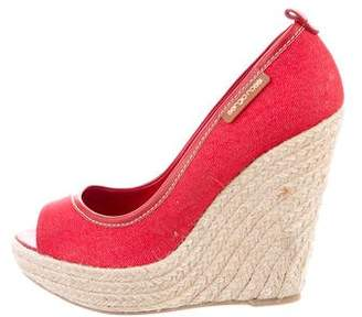 Sergio Rossi Espadrille Wedge Sandals