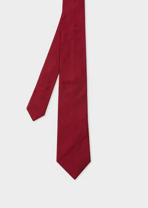 Paul Smith Men's Burgundy Diagonal Textured-Stripe Silk Tie
