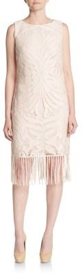 Fringed Baroque Lace Shift Dress $188 thestylecure.com