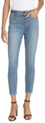 Alice + Olivia AO.LA Good Exposed Fly Skinny Jeans