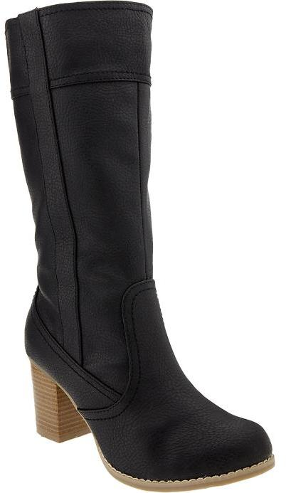 Old Navy Women's Faux-Leather Side-Zip Boots