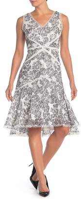 Taylor Lace Gingham Print Dress