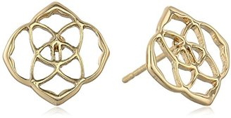 "Kendra Scott ""Starstruck"" Dira Gold Metal Stud Earrings $50 thestylecure.com"