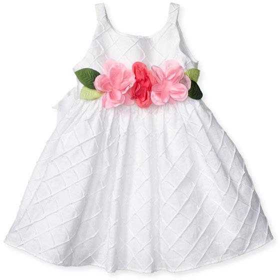 Sweet Heart Rose Floral Belt Dress (Infant)