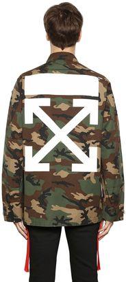 Camo Arrows Printed & Patch Field Jacket $1,157 thestylecure.com