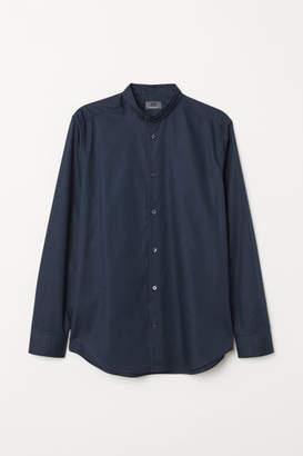 H&M Regular Fit Henley Shirt - Blue