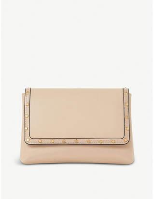 Dune Borriss leather studded clutch bag