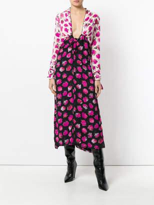 Proenza Schouler Floral long sleeve dress