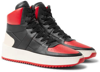 Fear Of God Basketball Panelled Leather High-Top Sneakers