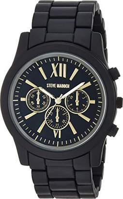 Steve Madden Men's Quartz Stainless Steel Dress Watch