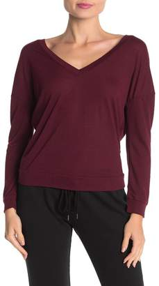 David Lerner Double V Long Sleeve Sweater