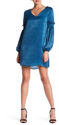 Everly Bubble Sleeve Satin Dress