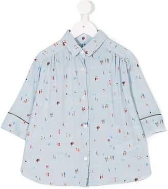 Bellerose Kids people print shirt