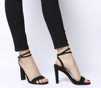 Office Harlan Two Part Block Sandal Heels Black