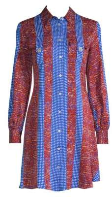 Derek Lam Printed Button-Down Shirtdress