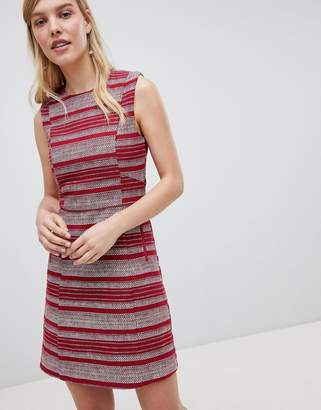Oasis Striped Ruffle Hem Shift Dress