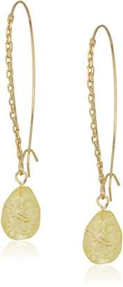 Kenneth Cole New York Women's Gold Tone Chain Shaped Hook Drop Earrings