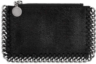 Stella McCartney Black Falabella Zip Card Holder