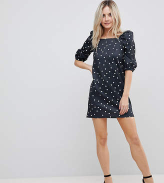 Asos Square Neck Polka Dot Mini Dress