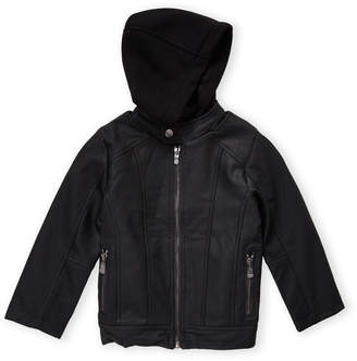 06e3f13d0 Boys Hooded Leather Jacket - ShopStyle