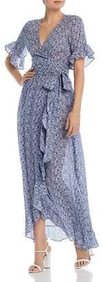 Nightcap Clothing Indigo Maxi Wrap Dress