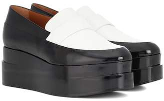 Clergerie Lynn platform leather loafers
