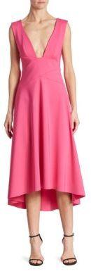 Trina Turk Sleeveless Drape-Front Dress