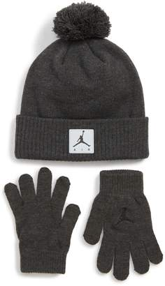 Nike JORDAN Jordan Air Heather Beanie & Gloves Set