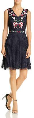 Nanette Lepore nanette Embroidered Lace Fit-and-Flare Dress