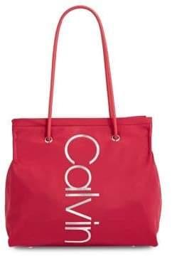 Calvin Klein Mallory Nylon Logo Tote